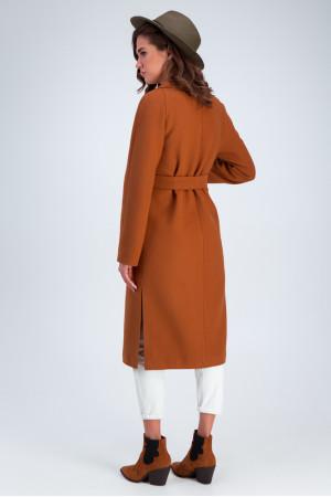 Жіноче пальто «Дельфіна» кольору кемел