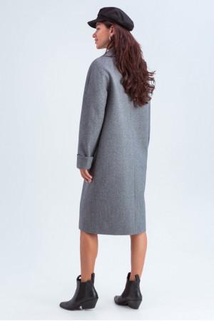Женское пальто «Деми» темно-серого цвета