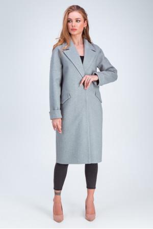 Женское пальто «Деми» серого цвета