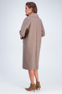 Жіноче пальто «Демі» кольору капучино