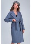 Жіноче пальто «Демі» кольору джинс