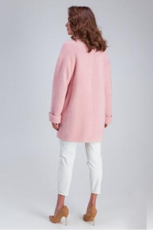 Женское пальто «Мэг» розового цвета