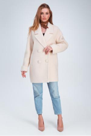 Женское пальто «Мэг» светло-бежевого цвета