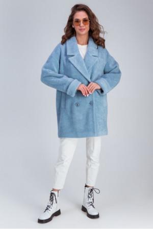 Жіноче пальто «Мег» блакитного кольору