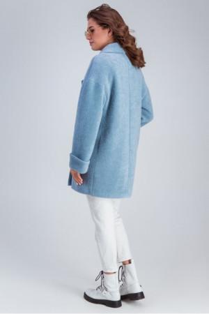 Женское пальто «Мэг» голубого цвета