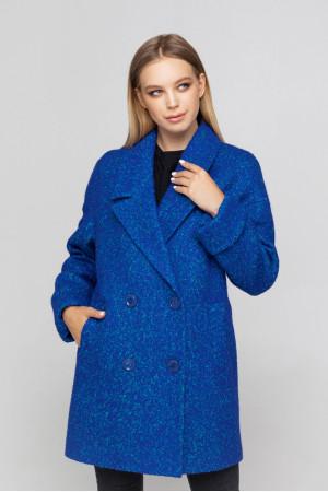 Жіноче пальто «Мег-букле» кольору електрик