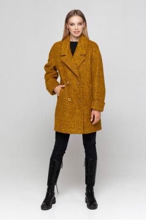 Жіноче пальто «Мег-букле» гірчично-коричневого кольору