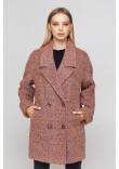 Жіноче пальто «Мег-букле» чорнильно-рожевого кольору