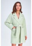 Жіноче пальто «Діва» фісташкового кольору
