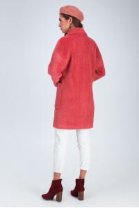 Жіноче пальто «Діва» коралового кольору