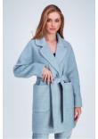 Жіноче пальто «Діва» блакитного кольору