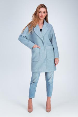 Женское пальто «Дева» голубого цвета