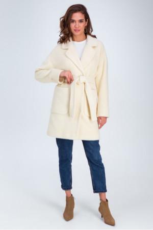 Женское пальто «Дева» цвета ванили