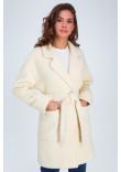 Жіноче пальто «Діва» кольору ванілі