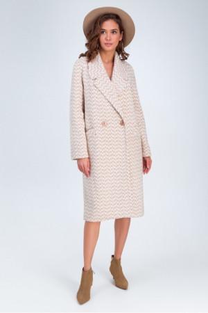 Женское пальто «Инди» коричневого цвета