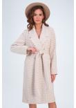 Жіноче пальто «Інді» коричневого кольору