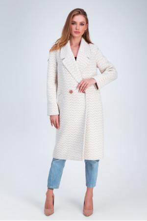 Женское пальто «Инди» бежевого цвета