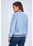 Бомбер «Адді» блакитного кольору