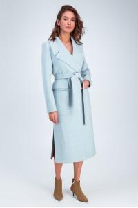 Жіноче пальто «Андреа» блакитного кольору