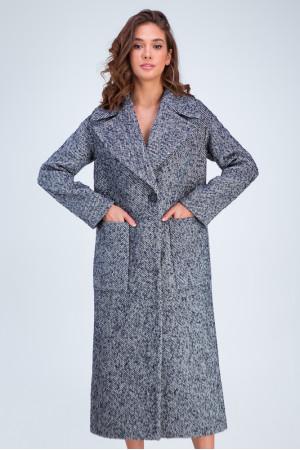 Жіноче пальто «Аїша» синього кольору