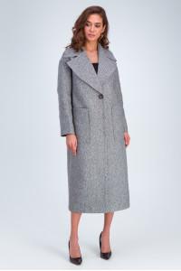 Жіноче пальто «Аїша» чорно-білого кольору