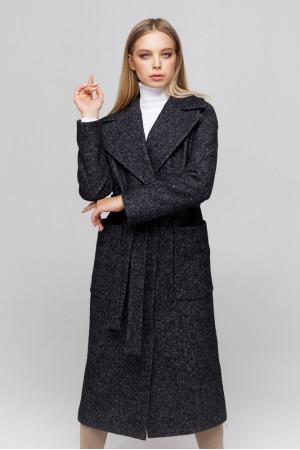Жіноче пальто «Аїша» чорного кольору