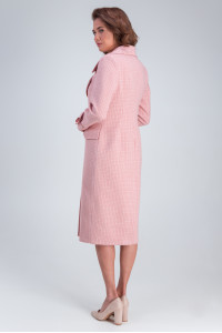 Жіноче пальто «Бруна» рожевого кольору