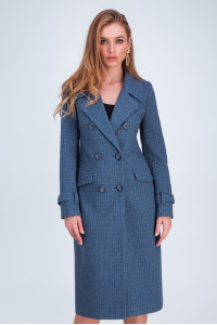Жіноче пальто «Бруна» кольору джинс