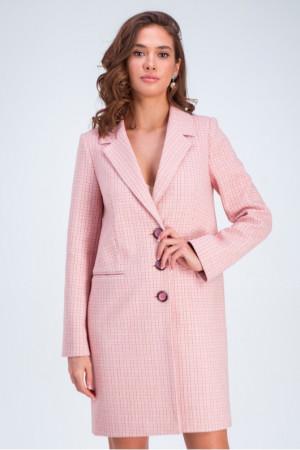 Жіноче напівпальто «Роуз» рожевого кольору