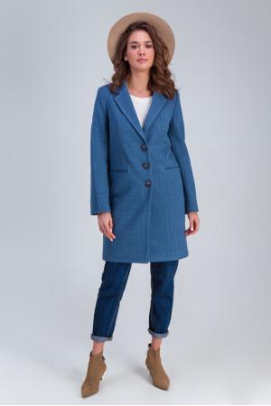 Женское полупальто «Роуз» синего цвета