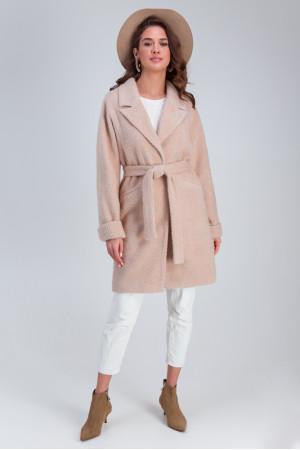 Женское пальто «Эмма» бежевого цвета