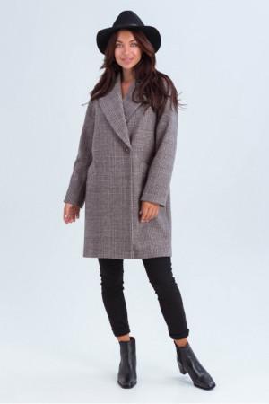 Женское пальто «Астрид» коричневого цвета