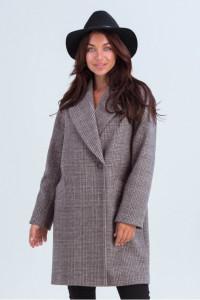 Жіноче пальто «Астрід» коричневого кольору