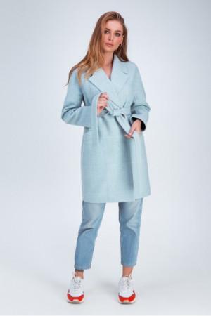 Женское пальто «Астрид» голубого цвета