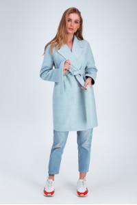 Жіноче пальто «Астрід» блакитного кольору