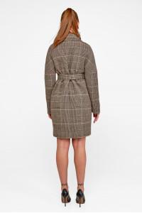 Жіноче пальто «Астрід» кольору кави
