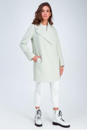 Женское пальто «Лили» фисташкового цвета
