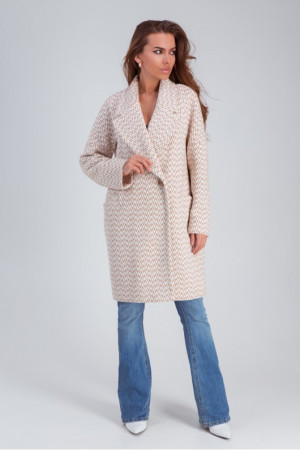 Жіноче пальто «Ясмін» кольору капучино