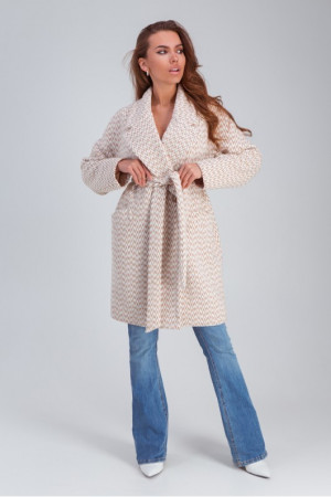 Женское пальто «Ясмин» цвета капучино