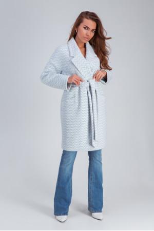 Женское пальто «Ясмин» голубого цвета