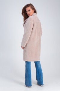 Женское пальто «Ума» бежевого цвета