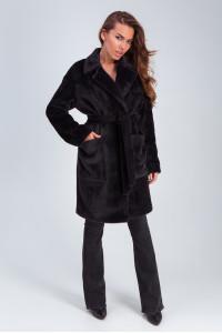 Жіноче пальто «Ума» чорного кольору