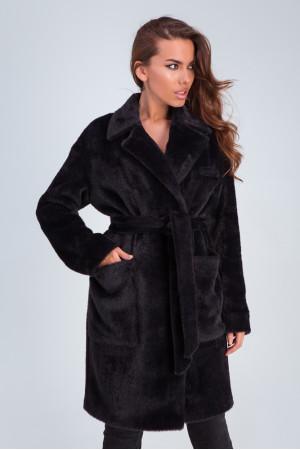 Женское пальто «Ума» черного цвета