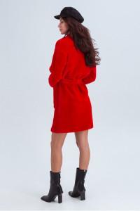 Женское пальто «Ума» красного цвета