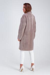 Женское пальто «Ума» цвета капучино