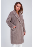 Жіноче пальто «Ума» кольору капучино