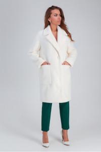 Женское пальто «Ума» белого цвета