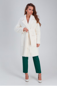 Жіноче пальто «Ума» білого кольору