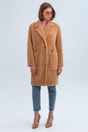 Женское пальто «Ума» цвета кэмел