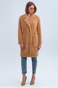 Жіноче пальто «Ума» кольору кемел